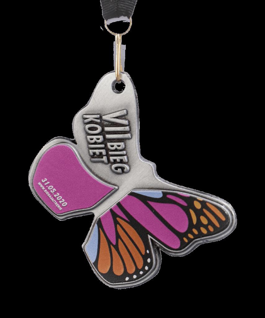 Medal sportowy w kształcie motyla
