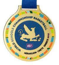 Medal z nadrukiem q-medals standard plus WSCB - złoty medal z kolorowym nadrukiem