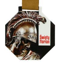 Medal z nadrukiem q-medals standard plus święty florian - medal zawieszony na brązowej wstążce