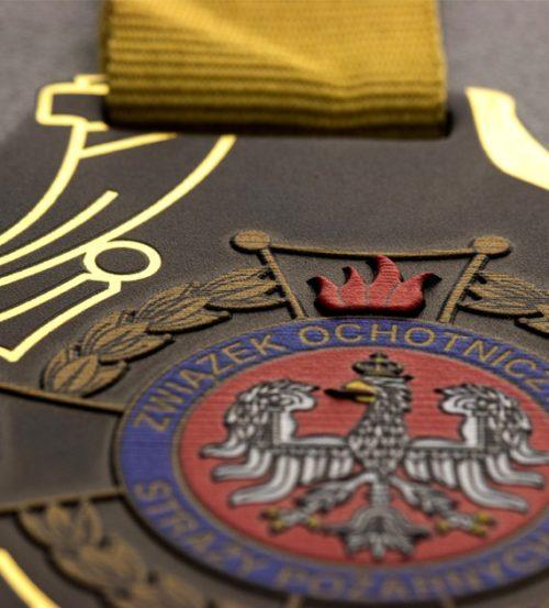 Medal z nadrukiem q-medals standard pluszwiązek ochotniczych straży pożarnych