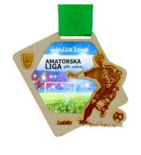 Medal z grawerem przygotowany na amatorską ligę młodzieżową