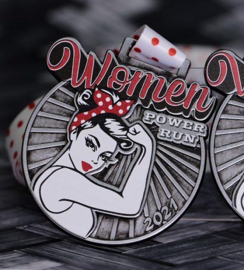 Medal na bieg kobiet