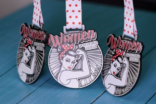 Medale na bieg kobiet Women Power Run