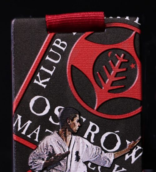 Medal karate z logiem klubu karate