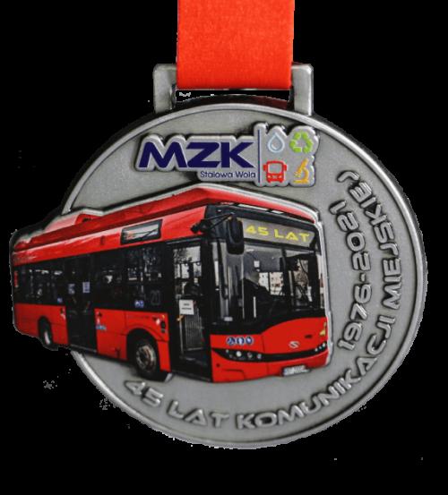 Medal pamiątkowy na 45-lecie MZK w Stalowej Woli